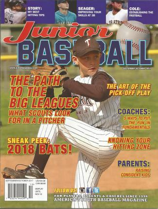 Junior Baseball Magazine Cover